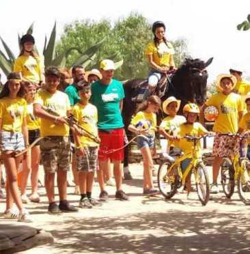 parata finale campi estivi in Sicilia juniorland