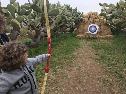 campi invernali juniorland tiro con l'arco