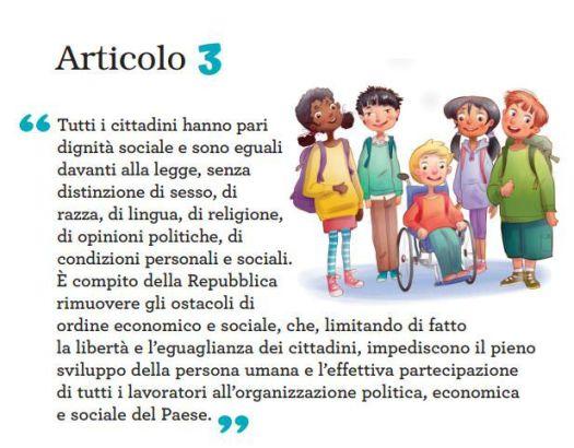 articolo 3 costituzione con juniorland